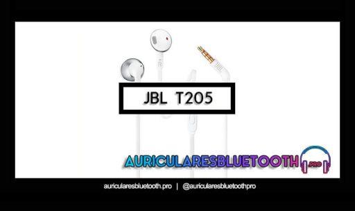 opinión y análisis auriculares jbl t205
