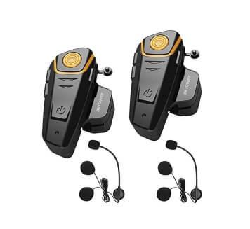 Auriculares para casco 1 par de casco de motocicleta BT Auriculares manos libres Auriculares Micr/ófono Altavoces Soporte para llamadas con manos libres